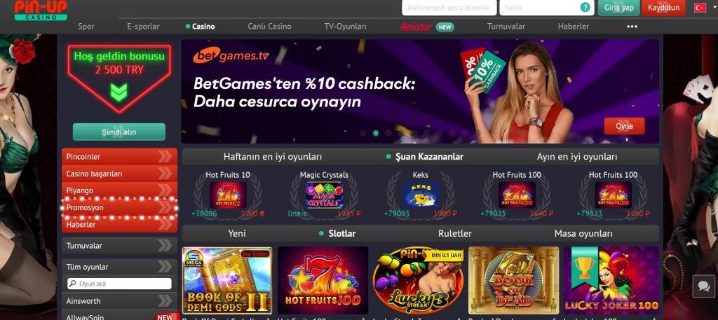 Casino Pin AP (Pin-up Casino) Resmi Web Sitesi